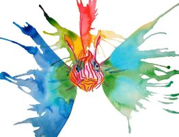 Rainbow Lion Fish by LucyLooStudios
