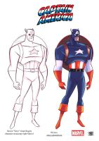 Captain America style  Bruce Timm by celaoxxx