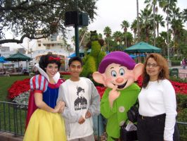 Me and Mom with Snow White by RakaiThwei