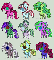 3 Point Adoptables by Honey-Sweet-Pixel