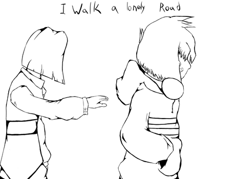 I Walk a Lonely Road by Tearahk