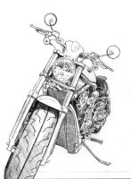 Motorcycle sketch.1 by bookstoresue