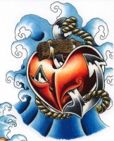 anchor and heart by sarahink