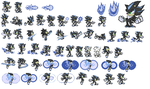 Mephiles the dark sprite sheet by Discourt
