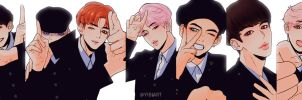 BTS -Not Today,  Inkigayo by Yibiart