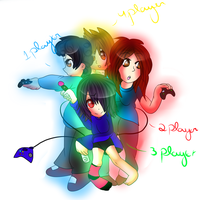 xX Let's Go Play Some Games-The 4 players Xx by CrazyIceCream4ever