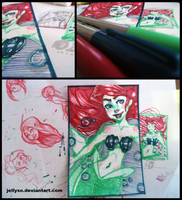 Sharpie 3 Color Challenge - Ariel wProcess Video by Drawing-Wiff-Waffles