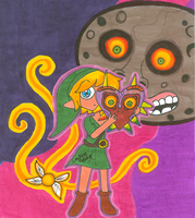 Majora's Mask for MegaDaisy1 :D by LovesickLatte