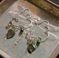 Atmospheric: Wirework Earrings by phee-adornments