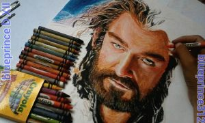 update Crayon on paper Thorin Oakenshield by blueprince312