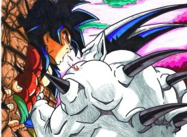 ssj4 goku vs omega shenron by trunks24