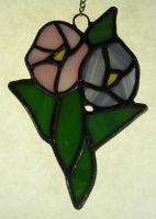 Stained Glass Hollyhock by wolfb09