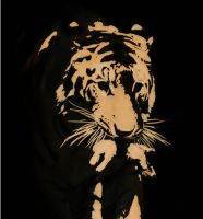 Tiger Tracing Using iNkscape by hamzaz