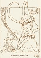 Old Loki Sketch by Serrifth