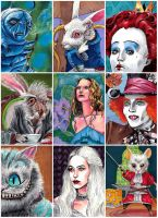 Alice sketch cards by febbik