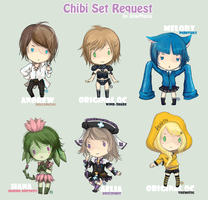 Chibi Request Set 1 to 6 by JinkiMania