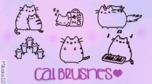 Cat Brushes / Pinceles de Gatitos by Miluska1D