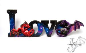 Galaxy Love Plaque by LittleDragonDesigns
