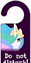 Princess Celestia Door Knob Hanger by Thorinair