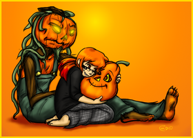 No glum for this pumpkin by HellLemur