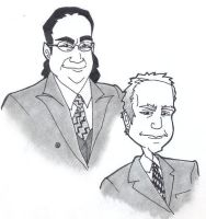 penn and teller by weaseltear