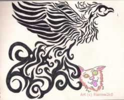 Phoenix Tattoo by Rianne2k8