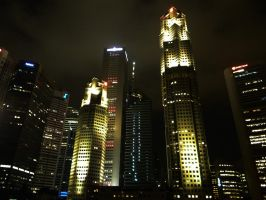 Singapore Skyscrapers by cscmatrix