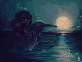 Strolling on moonlight by Alumx