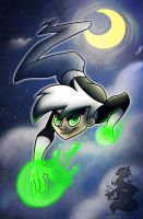 A shooting star in the sky by Japandragon