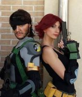 Big boss and Maryl cosplay by valentinachan