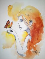 Golden Butterfly Child by VisualSymphonyStudio