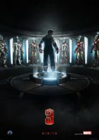 Iron Man 3 Movie Poster by ManiaGraphic