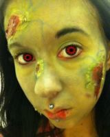 Zombie makeup by InkIsMyPassion