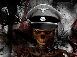 German SS Officer Skeleton by MrAngryDog