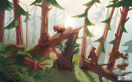 Morning in a Pine Forest by Seanica
