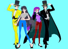 Black Butler/Gravity Falls Crossover RP characters by pegawhovian89