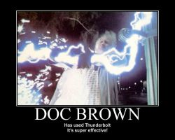 Doc Brown is a pokemon by Darkauthor81