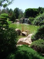 Japanese Garden - Waterfall 2 by Spiteful-Pie-Stock