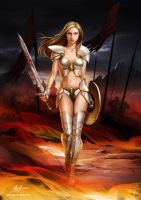 Warrior Girl by javieralcalde