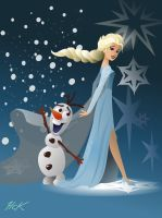 Elsa and Olaf by artist2point5