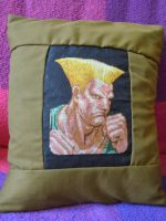 Guile Cross Stitch Cushion Cover by eveningemma