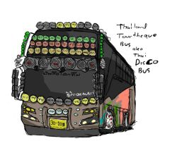 Thailand bus:Disco Bus by ngarage