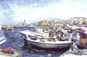 Saida Old Port by Bizriart
