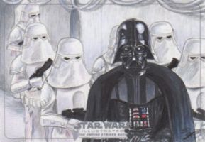 Star Wars Illustrated: TESB - Vader w/Snowtroopers by DenaeFrazierStudios