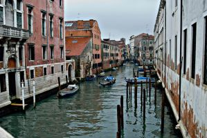 Venice from a bridge by CorazondeDios