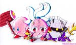 Kirby,Horsen and Metaknight by PerisIllustration