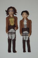 Levi and Hanji Clay Figures by DarbyLucy
