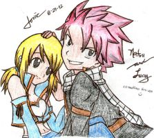 Natsu and Lucy :) by janesmee