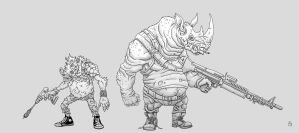 Bebop and Rocksteady by PhillGonzo