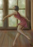Dancer in a Purple Dress by Ludi-Price